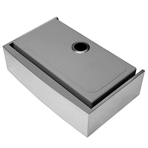 Ruvati 33 Inch Farmhouse Apron Front Kitchen Sink Stainless Steel Single Bowl RVH9233 0 4