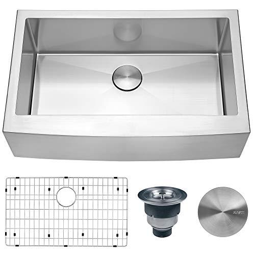 Ruvati 33 Inch Farmhouse Apron Front Kitchen Sink Stainless Steel Single Bowl RVH9233 0