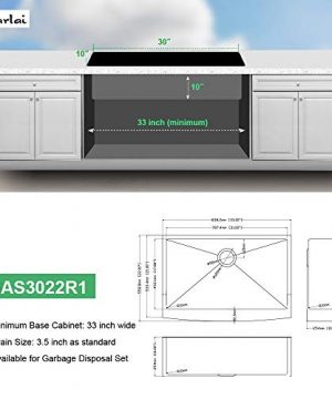 Sarlai 30 Inch Ledge Farmhouse Apron Single Bowl 16 Gauge Stainless Steel Luxury Kitchen Sink 0 0 300x360