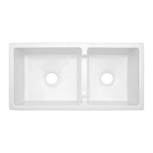 Signature Hardware 406513 Risinger 36 6040 Offset Bowl Fireclay Farmhouse Sink With Casement Apron 0 0