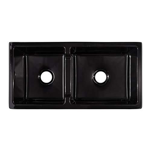 Signature Hardware 406513 Risinger 36 6040 Offset Bowl Fireclay Farmhouse Sink With Casement Apron 0 1
