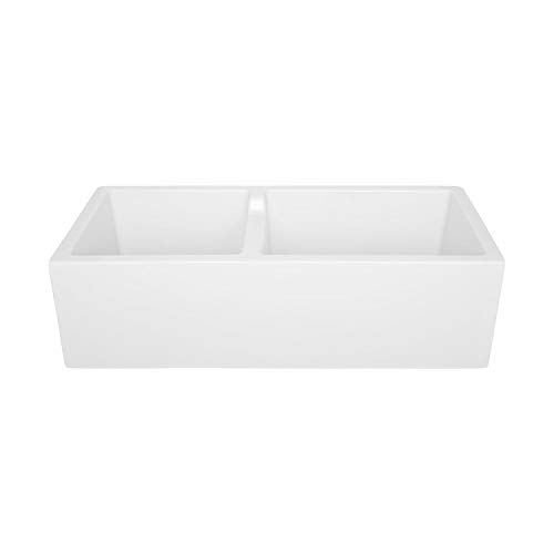 Signature Hardware 406513 Risinger 36 6040 Offset Bowl Fireclay Farmhouse Sink With Casement Apron 0 2