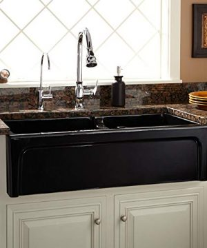 Signature Hardware 406513 Risinger 36 6040 Offset Bowl Fireclay Farmhouse Sink With Casement Apron 0 300x360