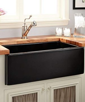 Signature Hardware 420791 Mitzy 30 Single Basin Fireclay Reversible Farmhouse Sink With Smooth Apron 0 300x360