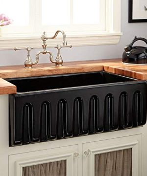 Signature Hardware 420792 Mitzy 30 Single Basin Fireclay Reversible Farmhouse Sink With Fluted Front 0 300x360