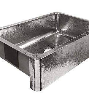 Sinkology SK701 33HSP AMZ B Percy All In One Farmhouse Apron Front 32 In Single Bowl In Polished Finish And Strainer Drain Crafted Stainless Steel Kitchen Sink 0 0 300x334