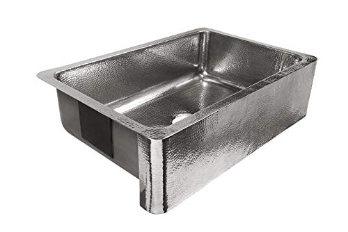 Sinkology SK701 33HSP AMZ B Percy All In One Farmhouse Apron Front 32 In Single Bowl In Polished Finish And Strainer Drain Crafted Stainless Steel Kitchen Sink 0 0