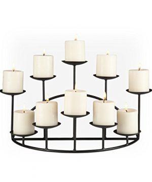 Southern Enterprises 10 Candle Candelabra Black 0 300x360