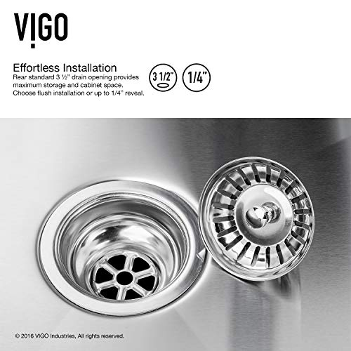 VIGO VG3620CK1 36 Inch Single Bowl 16 Gauge Stainless Steel Commercial Grade Farmhouse Apron Front Kitchen Sink Rounded Corners And SoundAbsorb Technology 0 5