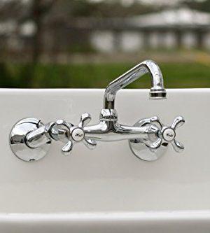 White Vintage Style High Back Farm Sink Original Porcelain Finish Apron Kitchen Utility Sink 0 3 300x333