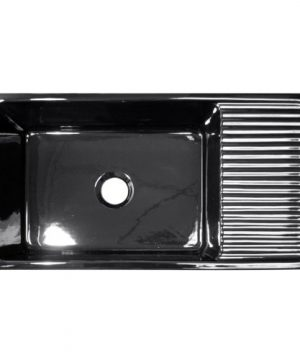 Whitehaus WHQD540 BL Farmhaus Quatro Alcove 36 Inch Reversible Fireclay Sink With Apron 0 300x360