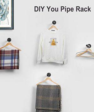 12 Inch Industrial Black Iron Pipe Shelf Brackets Set Of 4 Rustic Wall Mounted DIY Shelving Brackets Hanging Custom Pipe Brackets For Floating Shelves 0 1 300x360