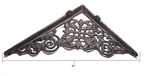 2 Pack Ornate Cast Iron Farmhouse Country Floral Vine