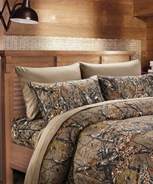 20 Lakes Camouflage Woodland Style Luxurios Microfiber Sheet Pillowcase Set 0 300x360