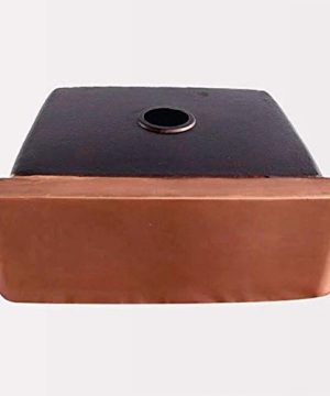 30 Geneva Smooth Copper Single Bowl Farmhouse Sink With Hammered Interior And Disposal Flange 0 2 300x360