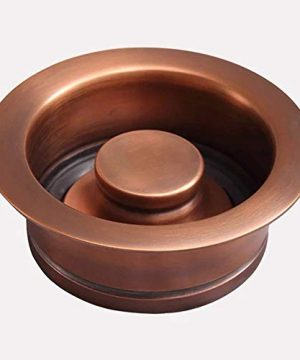 30 Geneva Smooth Copper Single Bowl Farmhouse Sink With Hammered Interior And Disposal Flange 0 3 300x360
