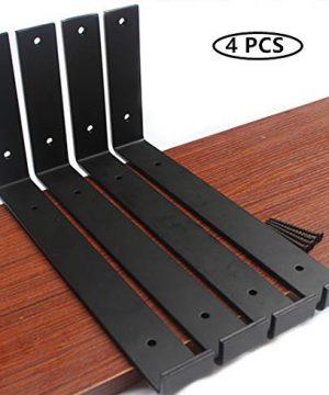4 Pack 1125L X 6H X 15W J Lip Shelf Bracket Rustic Industrial Farmhouse Iron Metal Wall Floating Shelf Bracket Metal Shelf Bracket Industrial Shelf Bracket Shelf Supports With Screws 0 300x360