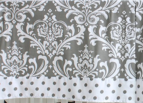 7 Pieces Set Grey Floral Baby Crib Nursery Bedding Set With Bumper 0 3