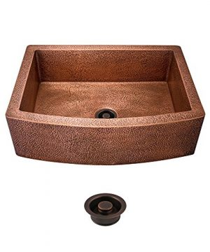 914 Single Bowl Copper Apron Sink Flange 0 300x360