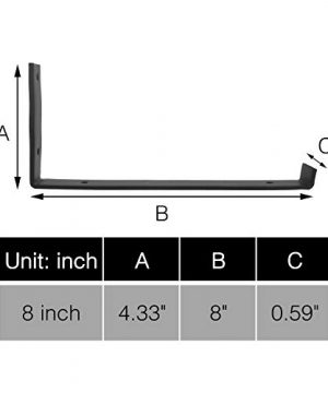 AddGrace 4 Pack Iron Shelf Brackets Angle Lip Bracket Wall Mounted Shelving Support With Screws For Wood Board Shelves Black 8 Inch 0 0 300x360