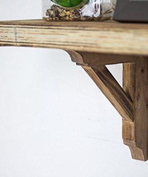 American Art Dcor Wooden Corbels Shelf Brackets Vintage Farmhouse Decor Set Of 2 Brown 0 2 300x360