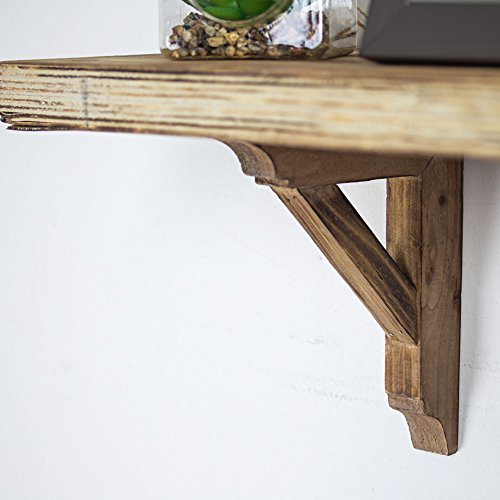 American Art Dcor Wooden Corbels Shelf Brackets Vintage Farmhouse Decor Set Of 2 Brown 0 2