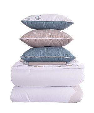 Amrapur Overseas Alana 8 Piece Comforter Set King WhiteAqua 0 0 300x360