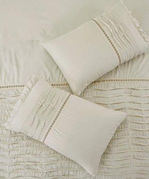 Amrapur Overseas Antonella 8 Piece Pleated King Sand Comforter Set Beige 0 4 300x360