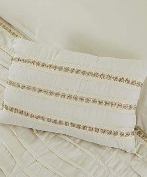 Amrapur Overseas Antonella 8 Piece Pleated King Sand Comforter Set Beige 0 5 300x360