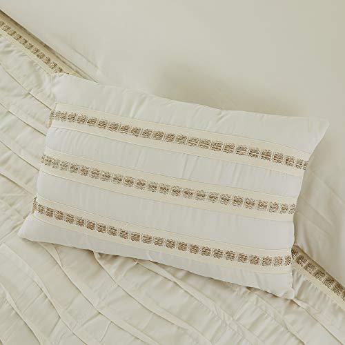 Amrapur Overseas Antonella 8 Piece Pleated King Sand Comforter Set Beige 0 5