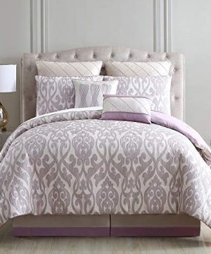 Amrapur Overseas Azlin 8 Piece Floral Damask Microfiber Comforter Set King 0 0 300x360
