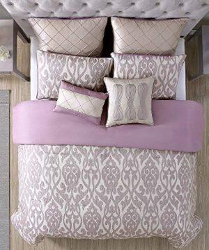 Amrapur Overseas Azlin 8 Piece Floral Damask Microfiber Comforter Set King 0 1 300x360