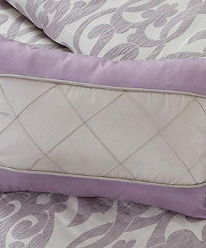 Amrapur Overseas Azlin 8 Piece Floral Damask Microfiber Comforter Set King 0 4 300x360