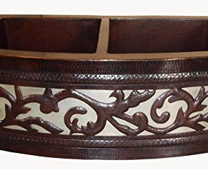 Apron Front Farmhouse Kitchen Mexican Copper Sink Leaf Guide 0 300x244