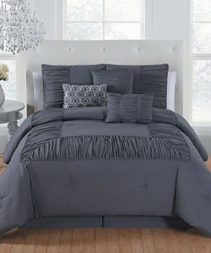 Avondale Manor Jules 7 Piece Comforter Set Queen Grey 0 300x360