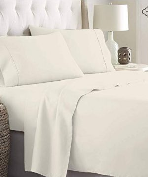 BIOWEAVES 100 Organic Cotton 4 Piece Bed Sheet Set 300 Thread Count Soft Sateen Weave GOTS Certified With Deep Pockets Full Natural 0 0 300x360