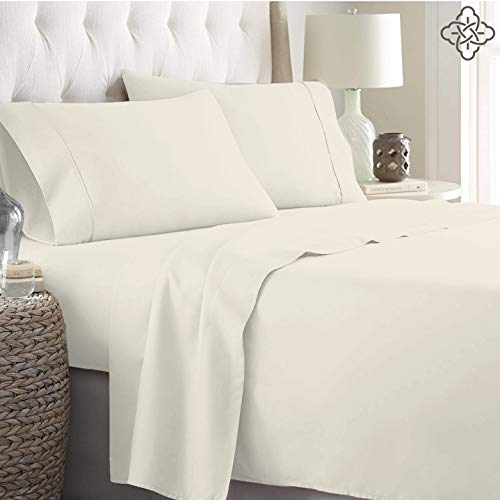 BIOWEAVES 100 Organic Cotton 4 Piece Bed Sheet Set 300 Thread Count Soft Sateen Weave GOTS Certified With Deep Pockets Full Natural 0 0
