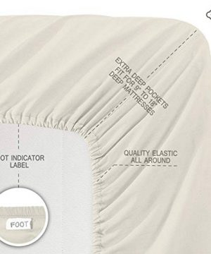 BIOWEAVES 100 Organic Cotton 4 Piece Bed Sheet Set 300 Thread Count Soft Sateen Weave GOTS Certified With Deep Pockets Full Natural 0 1 300x360