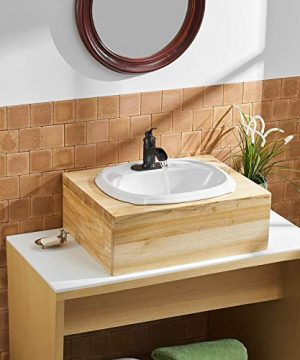 BWE Waterfall Single Handle Bathroom Sink Faucet Oil Rubbed Bronze Deck Mount Lavatory Commercial 0 1 300x360