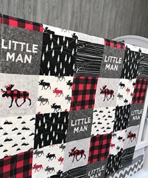 Baby BoyGirl Chevron Baby Bedding Woodlands Moose Buffalo Plaid Neutral Crib Bedding Nursery Room Babylooms 0 300x360