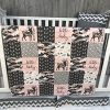 Baby Girl Chevron Baby Bedding Woodlands Buck Pink Camo Deerly Loved Neutral Crib Bedding Nursery Room Babylooms 0 100x100