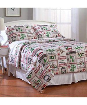 Bedding Christmas Farmhouse Flannel Cabin 100 Cotton FullQueen Comforter Set 3 Piece Homemade Wax Melts 0 300x360