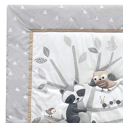 Bedtime Originals Little Rascals Forest Animals 3 Piece Crib Bedding Set GrayWhite 0 2