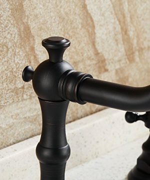 Beelee Deck Mounted Three Holes Double Handles Widespread Bathroom Sink Faucet Oil Rubbed Bronze 0 2 300x360