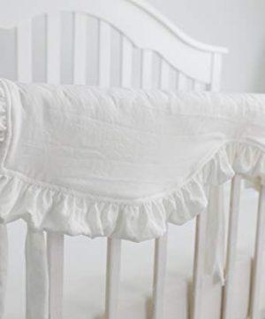 Blush Coral Pink Ruffle Crib Bedding Set Baby Girl Bedding Blanket Nursery Crib Skirt Set Baby Girl Crib Bedding Sheet White 4 Pieces Set With Rail Cover 0 2 300x360