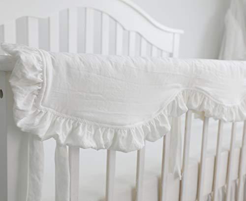 Blush Coral Pink Ruffle Crib Bedding Set Baby Girl Bedding Blanket Nursery Crib Skirt Set Baby Girl Crib Bedding Sheet White 4 Pieces Set With Rail Cover 0 2