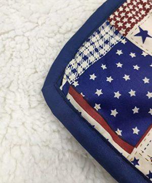 Brandeam Baby Boys Patchwork Crib Bedding Sets Navy Blue Rustic Nursery Bedding 100 Cotton American Flag Newborn Infant Blanket With StripeStar Hot Baby Shower Gift 0 4 300x360