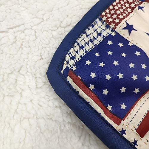 Brandeam Baby Boys Patchwork Crib Bedding Sets Navy Blue Rustic Nursery Bedding 100 Cotton American Flag Newborn Infant Blanket With StripeStar Hot Baby Shower Gift 0 4