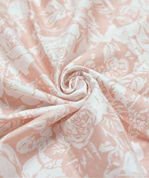 Brandream Floral Crib Sheet Blush Pink Floral Fitted Crib Sheet Chic Rose Baby Bedding Vintage Nursery Bedding Set For Girl Navy 2 Pack 0 3 300x360