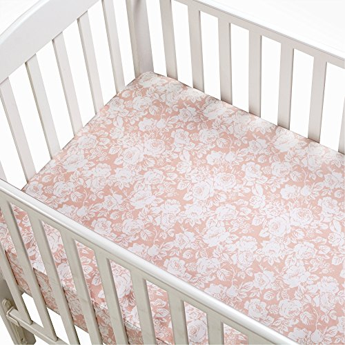Blush Pink Fl Ed Crib Sheet